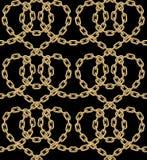 Картина вектора безшовная золотых цепей Бесплатная Иллюстрация