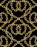Картина вектора безшовная золотых цепей Стоковая Фотография