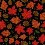 Картина вектора безшовная листьев осени Стоковые Фото