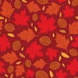 Картина вектора безшовная листьев осени Стоковое фото RF