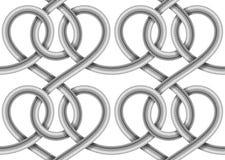 Картина вектора безшовная кабеля с оплеткой Стоковое фото RF