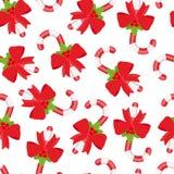 Картина вектора безшовная леденца на палочке, сахарного тростника рождества бесплатная иллюстрация