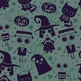 Картина вектора безшовная на хеллоуин Стоковое фото RF
