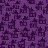 Картина вектора безшовная на хеллоуин Стоковые Фото