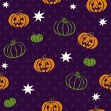 Картина вектора безшовная на хеллоуин Стоковая Фотография