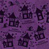 Картина вектора безшовная на хеллоуин Стоковые Изображения