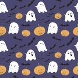 Картина вектора безшовная на хеллоуин Стоковое Фото