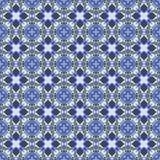 Картина вектора безшовная, орнаментальная геометрическая предпосылка Ретро голубые цвета Стоковое фото RF