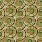 Картина вектора безшовная от спиральных элементов Богачи с ретро для коричневой бумаги, предпосылки предпосылки Стоковые Изображения RF