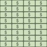 Картина вектора безшовная долларов абстрактная предпосылка Стоковые Изображения