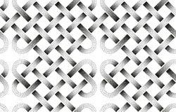 Картина вектора безшовная пунктированных лент Стоковые Фото