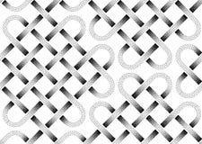 Картина вектора безшовная пунктированных лент Стоковые Изображения