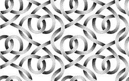 Картина вектора безшовная пунктированных лент Иллюстрация вектора