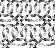 Картина вектора безшовная пунктированных лент Стоковое Фото