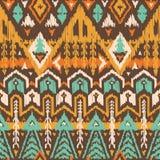 Картина вектора безшовная племенная в стиле Scribble Стоковое фото RF