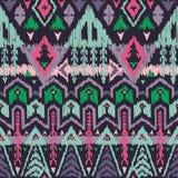 Картина вектора безшовная племенная в стиле Scribble Стоковое Изображение RF