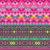 Картина вектора безшовная племенная для дизайна ткани Стоковое Изображение