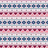 Картина вектора безшовная племенная для дизайна ткани Стоковые Изображения
