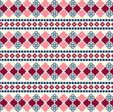 Картина вектора безшовная племенная для дизайна ткани Стоковое Изображение RF