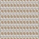 Картина вектора безшовная племенная для дизайна ткани Стоковые Изображения RF