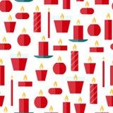 Картина вектора безшовная свечей Стоковые Фото