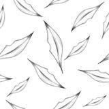 Картина вектора безшовная с абстрактными губами Стоковая Фотография