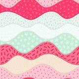 Картина вектора безшовная с абстрактными текстурированными волнами Изогните формы с много различной элементов нарисованных рукой Стоковая Фотография