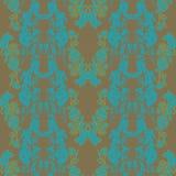 Картина вектора безшовная с абстрактными флористическими текстурами бесплатная иллюстрация