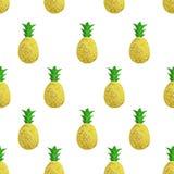 Картина вектора безшовная с ананасами Стоковые Изображения