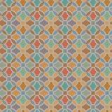 Картина вектора безшовная с геометрическим орнаментом Покрасьте декоративную иллюстрацию для печати, сеть мозаики Стоковые Изображения
