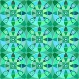 Картина вектора безшовная с геометрическим орнаментом Покрасьте декоративную иллюстрацию для печати, сеть мозаики Стоковая Фотография RF