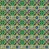 Картина вектора безшовная с геометрическим орнаментом Покрасьте декоративную иллюстрацию для печати, сеть мозаики Стоковое Изображение RF
