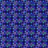 Картина вектора безшовная с геометрическим орнаментом Покрасьте декоративную иллюстрацию для печати, сеть мозаики Стоковые Изображения RF