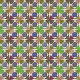 Картина вектора безшовная с геометрическим орнаментом Покрасьте декоративную иллюстрацию для печати, сеть мозаики Стоковая Фотография