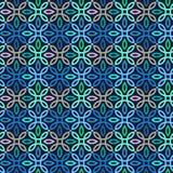 Картина вектора безшовная с геометрическим орнаментом Покрасьте декоративную иллюстрацию для печати, сеть мозаики Стоковые Фотографии RF