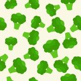 Картина вектора безшовная с зеленым ярким брокколи еда здоровая Vegetable картина лета, красочная печать для дизайна Стоковое Фото