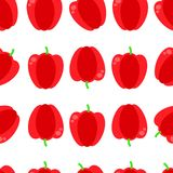 Картина вектора безшовная с красной паприкой Безшовная красная иллюстрация вектора предпосылки паприки бесплатная иллюстрация