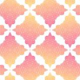 Картина вектора безшовная с мандалой Бесконечный апельсин и пинк предпосылки этническая картина безшовная Стоковое Фото