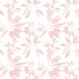 Картина вектора безшовная с нарисованными вручную цветками чернил Стоковые Фотографии RF