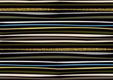 Картина вектора безшовная с нарисованным рукой ярким блеском золота текстурировала ходы щетки и stripes покрашенная рука иллюстрация вектора