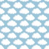 Картина вектора безшовная с облаками Стоковые Фото