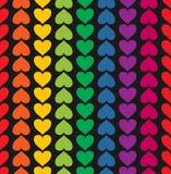 Картина вектора безшовная с подобием покрашенным сердцами Стоковые Изображения RF