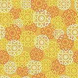 Картина вектора безшовная с ретро цветками оранжевыми бесплатная иллюстрация