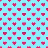 Картина вектора безшовная с сердцами Стоковые Фото