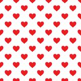 Картина вектора безшовная с сердцами Стоковая Фотография