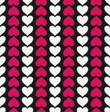 Картина вектора безшовная с сердцами Стоковые Фотографии RF