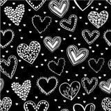 Картина вектора безшовная с сердцами doodle Иллюстрация вектора