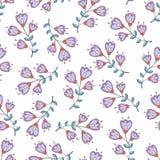 Картина вектора безшовная с стилизованными цветками предпосылка для дизайна и украшения Стоковая Фотография