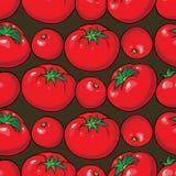 Картина вектора безшовная с томатами Стоковое Фото