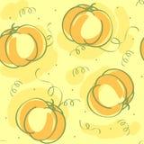 Картина вектора безшовная с тыквой Стоковые Изображения